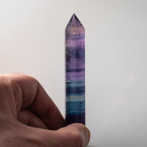 Double Terminated Rainbow Banded Fluorite From Mexico (56.5 grams)