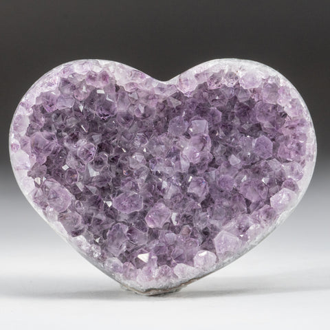 Amethyst Cluster Heart from Brazil (266.2 grams)