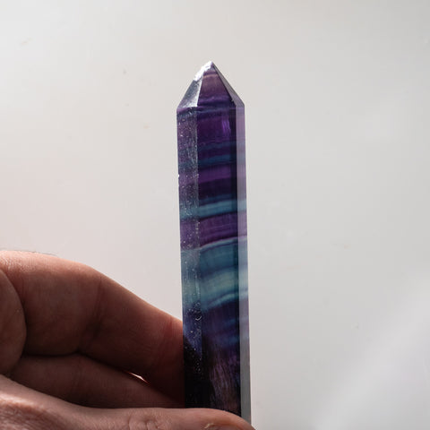 Double Terminated Rainbow Banded Fluorite From Mexico (63.3 grams)