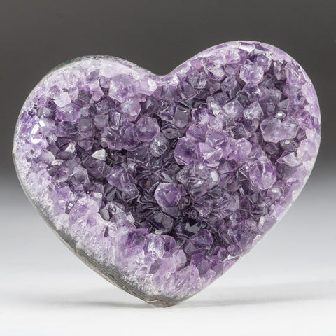 Amethyst Cluster Heart from Brazil (245 grams)