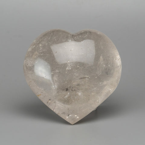 Clear Quartz Polished Heart From Brazil (566.4 grams)