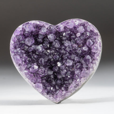 Amethyst Cluster Heart from Brazil (306.3)