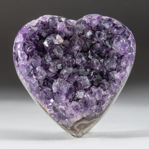 Amethyst Cluster Heart from Brazil (428.5 grams)