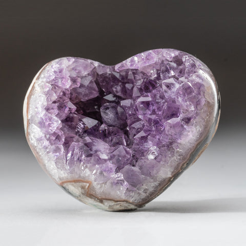 Amethyst Cluster Heart from Brazil (392.7 grams)