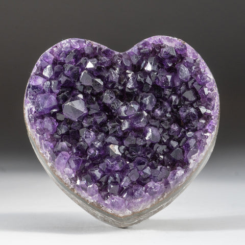 Amethyst Cluster Heart from Brazil (1.3 lbs)