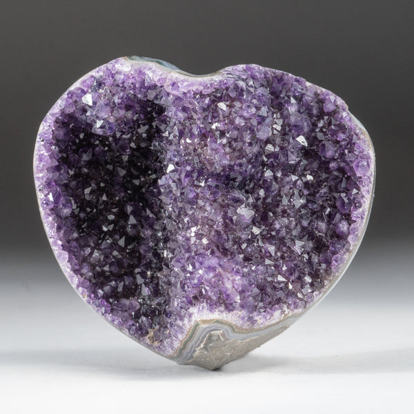 Amethyst Cluster Heart from Brazil (1 lb)