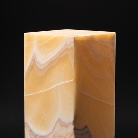 "Natural Square Onyx Desk Lamp from Mexico (16"", 13.5 lbs)"