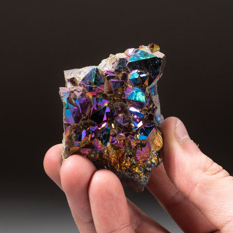Rainbow Aura Quartz Crystal Cluster (170 grams)