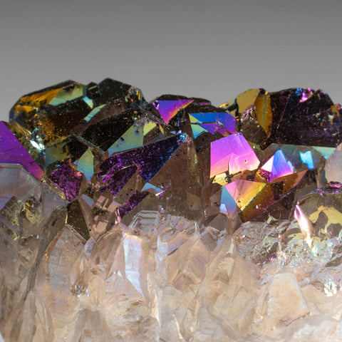 Rainbow Aura Quartz Crystal Cluster (122 grams)