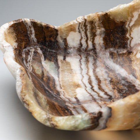 Large Natural Onyx Bowl From Mexico (22.2 lbs)
