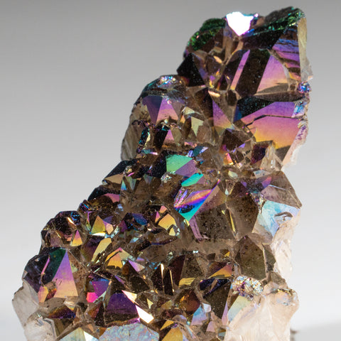 Rainbow Aura Quartz Crystal Cluster (87.6 grams)