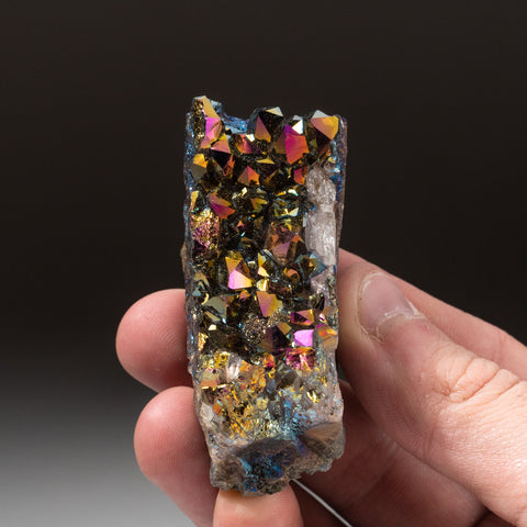 Rainbow Aura Quartz Crystal Cluster (107.8 grams)