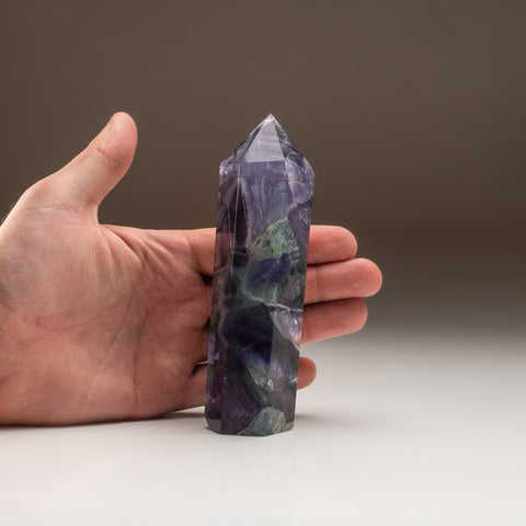 Rainbow Fluorite Point From Mexico (.8 lbs)