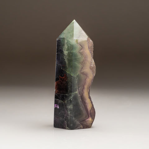 Rainbow Green Fluorite Point From Mexico (1.2 lbs)