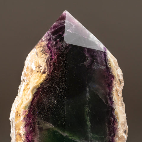 Rainbow Fluorite Point From Mexico (1.7 lbs)
