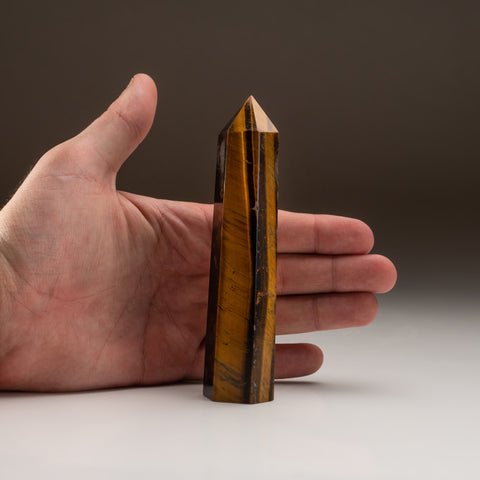 Polished Tigereye Point (193.3 grams)