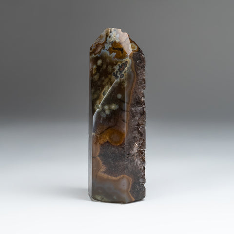 Brown Agate Geode Obelisk from Brazil (1.4 lbs)