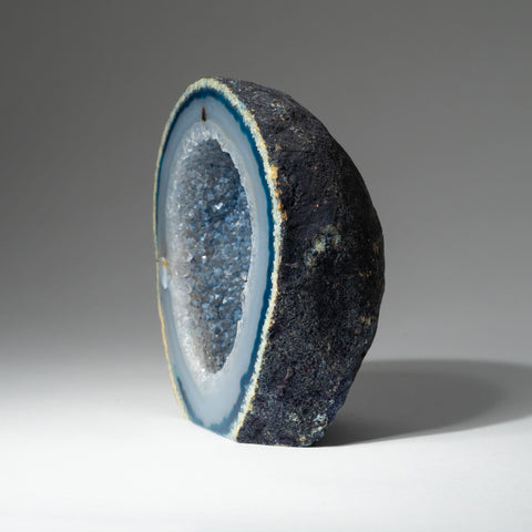 Blue Banded Agate Geode From Brazil (1 lb)