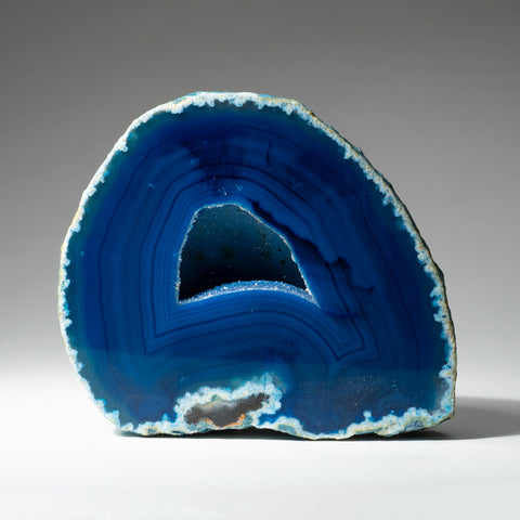 Blue Banded Agate Geode From Brazil (1.2 lbs)