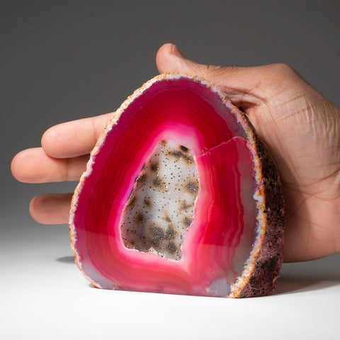Red Banded Agate Geode From Brazil (1.3 lbs)
