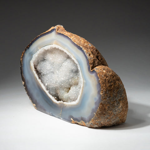 Banded Agate Druzy Geode From Brazil (2.4 lbs)