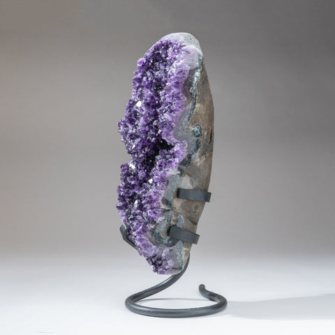 Amethyst Crystal Cluster on Stand from Brazil (12.4 lbs)