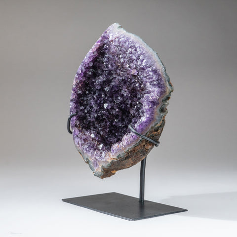 Amethyst Crystal Cluster on Stand from Brazil (11 lbs)