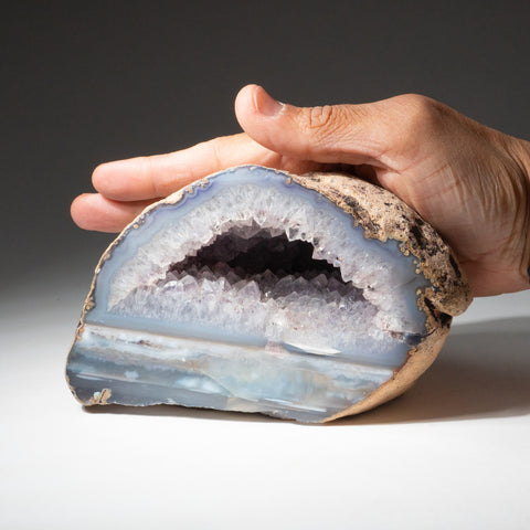 Quartz Banded Agate Druzy Geode From Brazil (3 lbs)