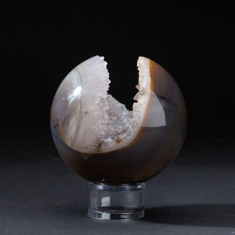"Natural Agate Geode Sphere from Brazil (4"", 2.2 lbs)"