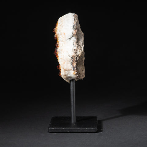 "Citrine Quartz Crystal Cluster on Metal Stand (7.5"", 2.5 lbs)"