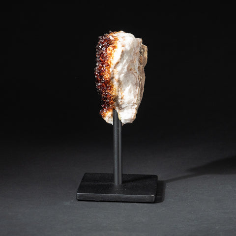 "Citrine Quartz Crystal Cluster on Metal Stand (6.5"", 2.2 lbs)"