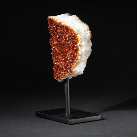 "Citrine Quartz Crystal Cluster on Metal Stand (7.5"", 3 lbs)"