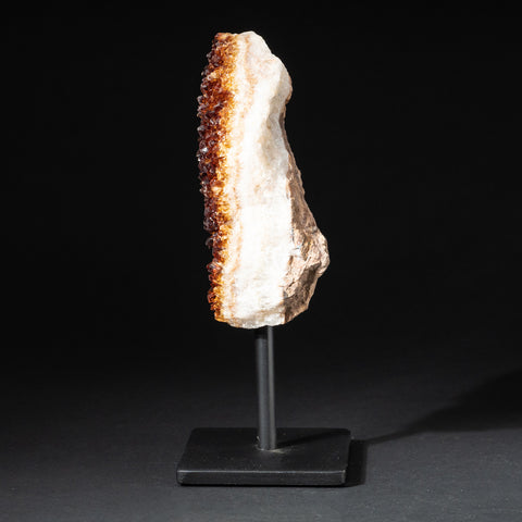 "Citrine Quartz Crystal Cluster on Metal Stand (8"", 3 lbs)"