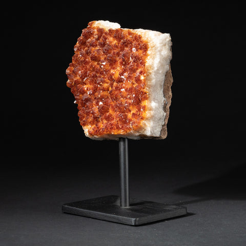 "Citrine Quartz Crystal Cluster on Metal Stand (7.5"", 3.4 lbs)"