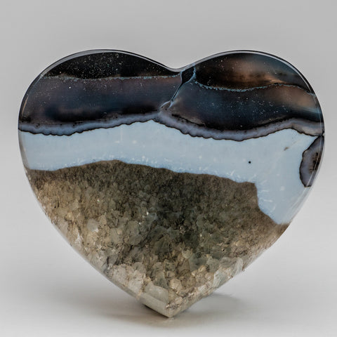 Polished Green Agate Heart from Brazil (1 lbs)