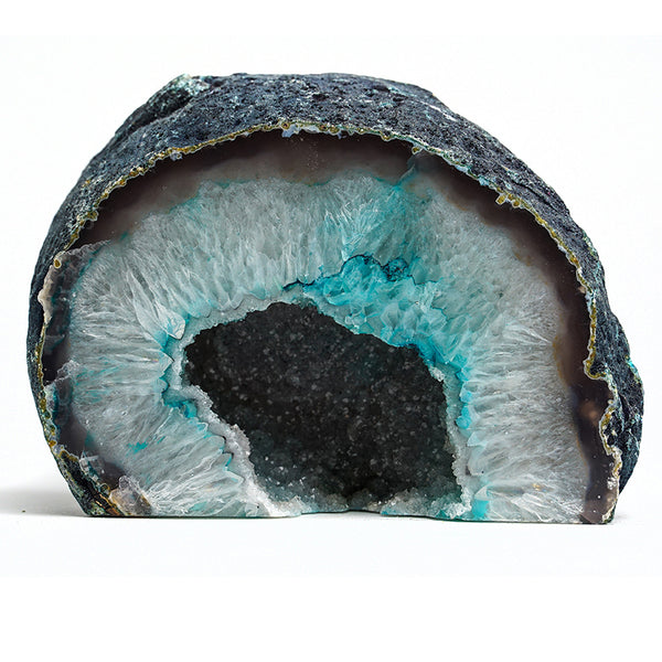 Banded Agate Geode From Brazil (3.5 lbs)
