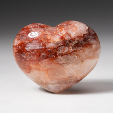 Polished Strawberry Quartz Heart from Madagascar (150 grams)