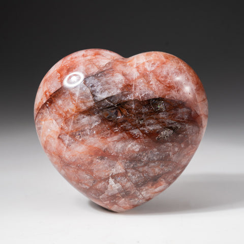 Polished Strawberry Quartz Heart from Madagascar (1.2 lbs)