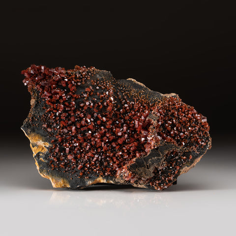 Vanadinite Crystal Cluster on Matrix - From Mibladen, Atlas Mountains, Khénifra Province, Morocco
