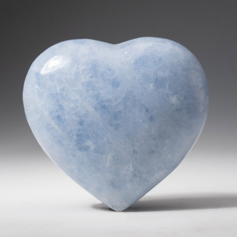 Genuine Blue Calcite Heart from Mexico