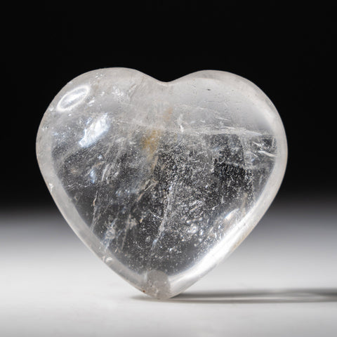 Clear Quartz Polished Heart From Brazil