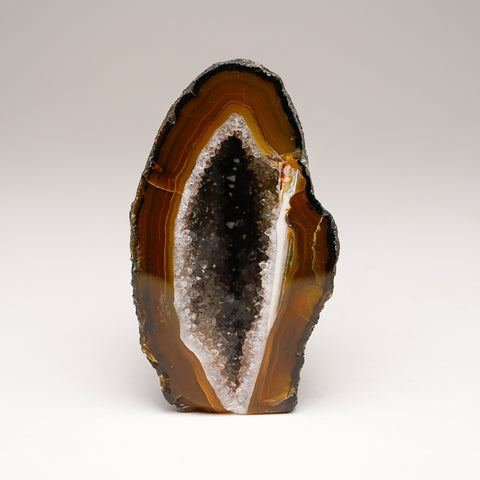 Brown Banded Agate Geode From Brazil (439.1 grams)