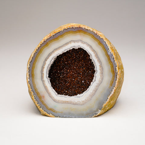 Natural Banded Agate Geode From Brazil (1.5 lbs)