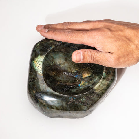 Polished Labradorite Small Bowl (4.6 lbs)