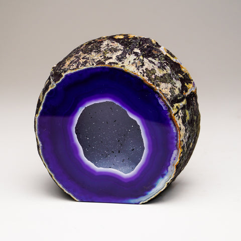 Purple Banded Agate Geode From Brazil (2 lbs)