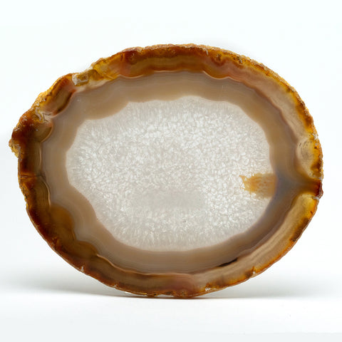 Polished Natural Brazilian Banded Agate Slice