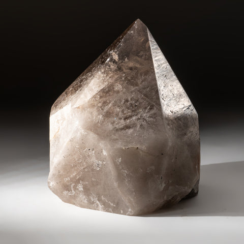 Polished Smoky Quartz Crystal Point From Brazil (15.8 lbs)