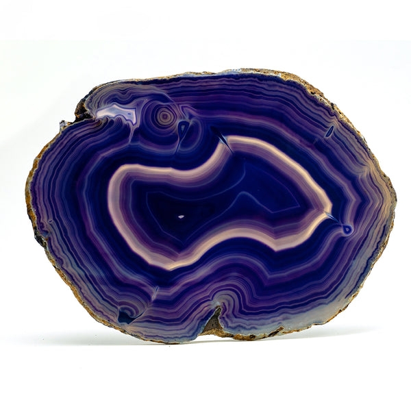 Polished Purple Brazilian Banded Agate Slice