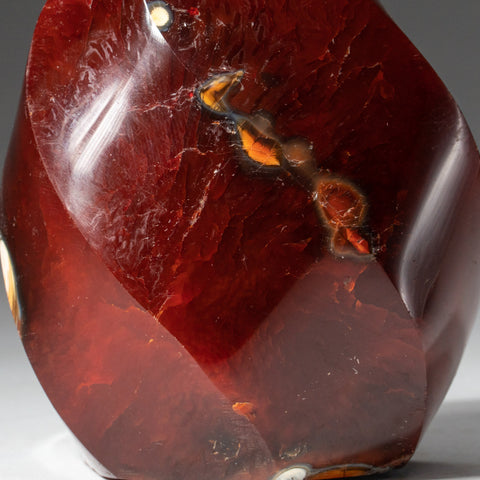 Polished Carnelian Agate Freeform from Madagascar (355.9 grams)