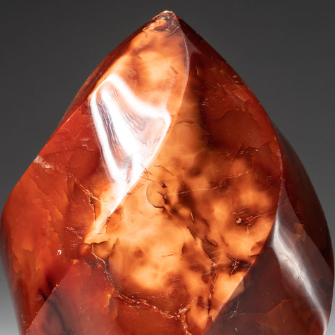 Polished Carnelian Agate Freeform from Madagascar (1.3 lbs)